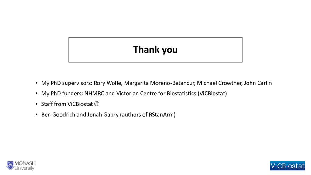 • My PhD supervisors: Rory Wolfe, Margarita Mor...