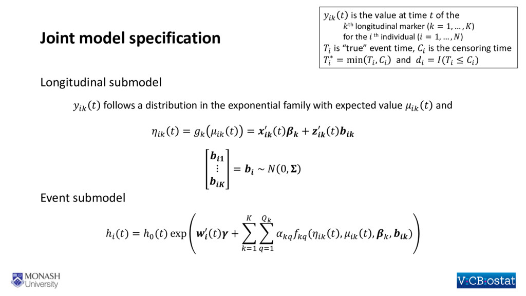 Joint model specification   follows a distribut...