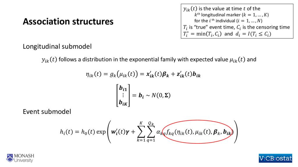 Association structures   follows a distribution...