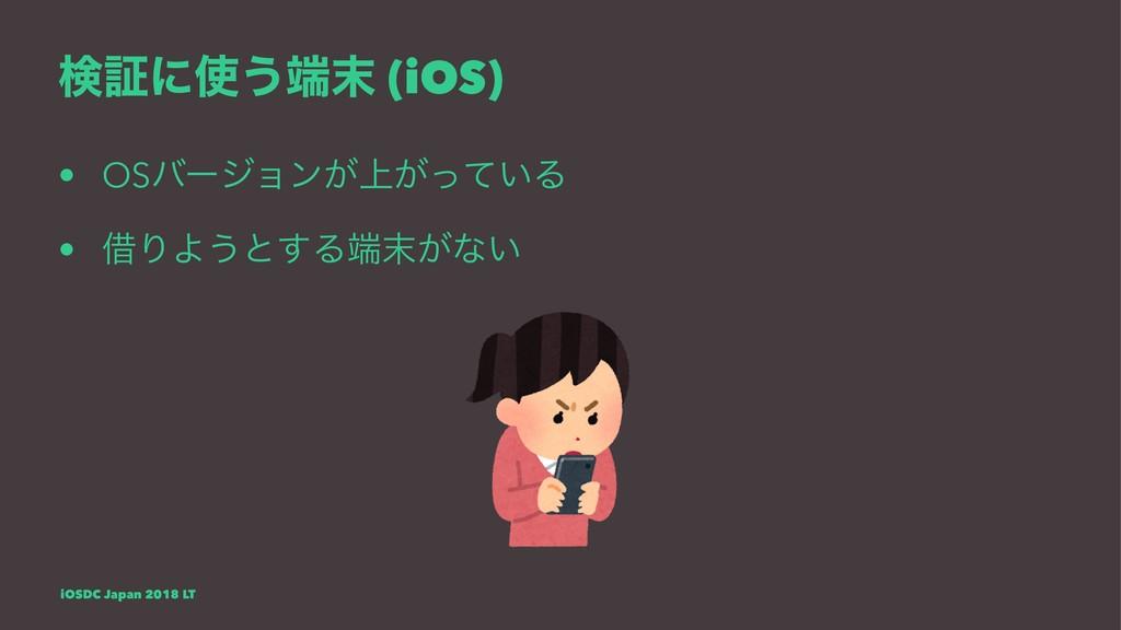 ݕূʹ͏ (iOS) • OSόʔδϣϯ্͕͕͍ͬͯΔ • आΓΑ͏ͱ͢Δ͕ͳ͍ i...
