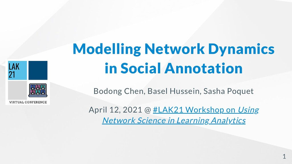 Modelling Network Dynamics in Social Annotation...