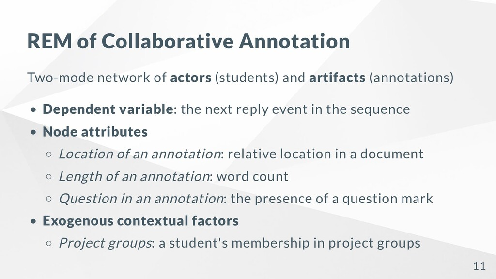 REM of Collaborative Annotation Two-mode networ...