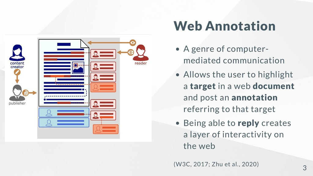 Web Annotation A genre of computer- mediated co...