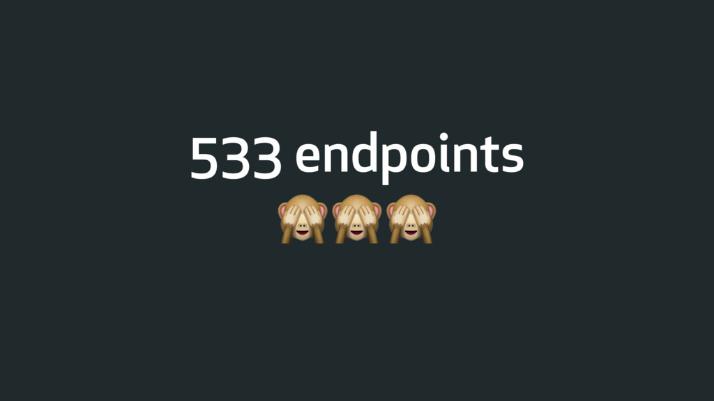 533 endpoints