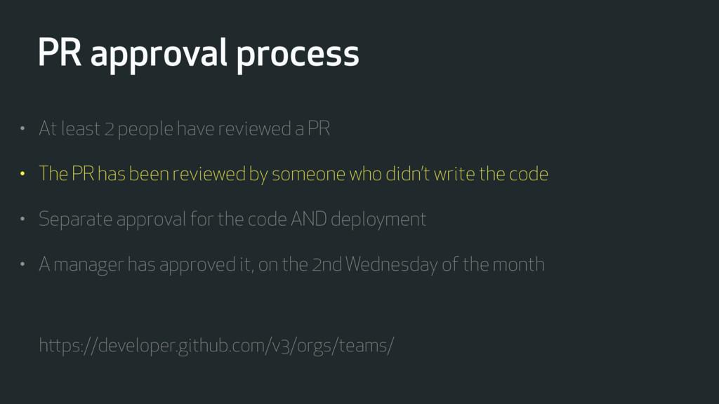 PR approval process https://developer.github.co...