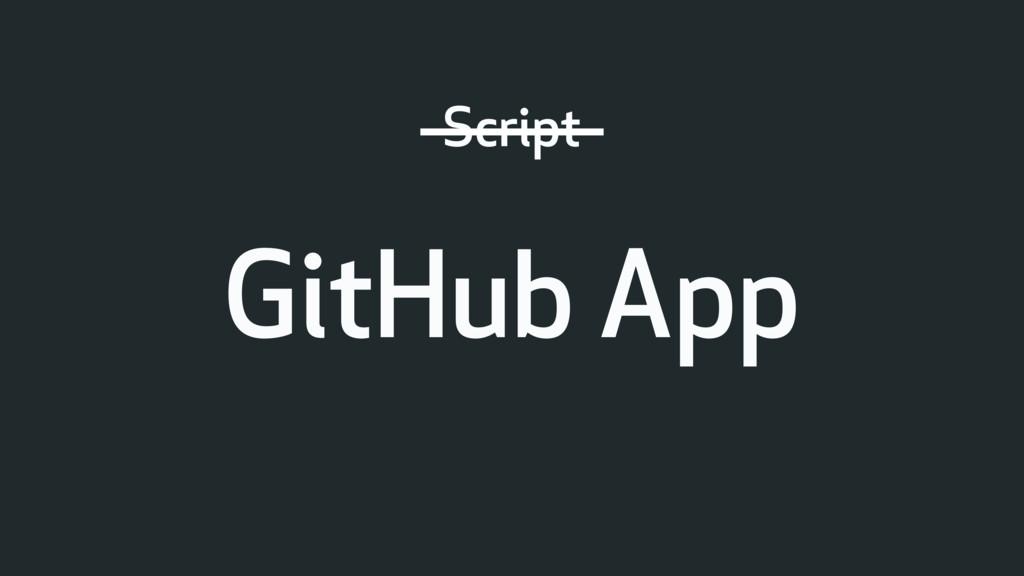 Script GitHub App
