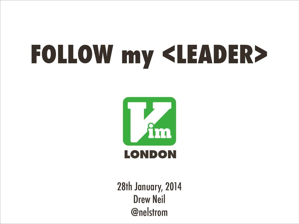28th January, 2014 Drew Neil @nelstrom FOLLOW m...