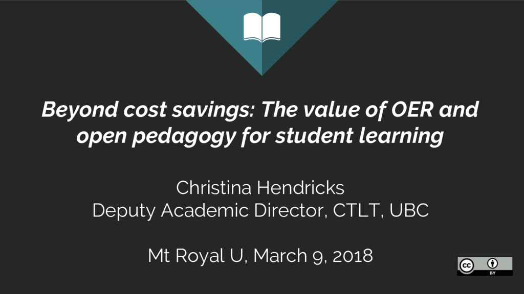 Beyond cost savings: The value of OER and open ...