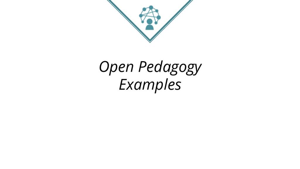 Open Pedagogy Examples