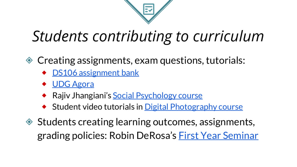 Students contributing to curriculum ◈ Creating ...