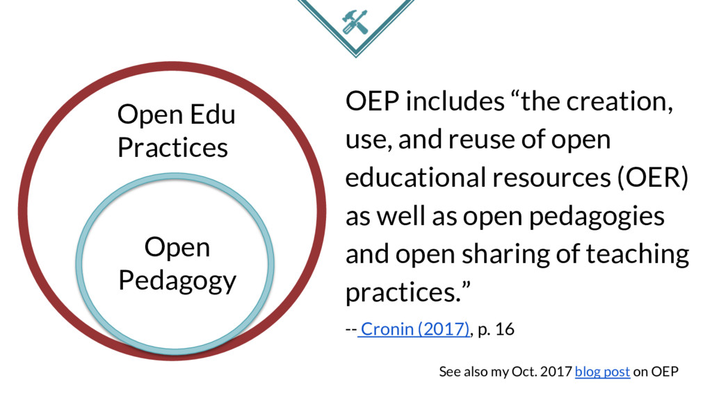 """OEP includes """"the creation, use, and reuse of o..."""