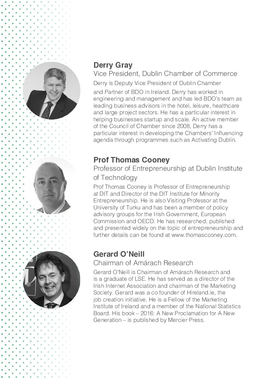 Derry Gray Vice President, Dublin Chamber of Co...