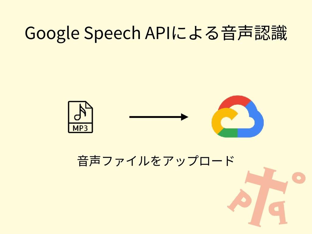 Google Speech APIによる⾳声認識 ⾳声ファイルをアップロード