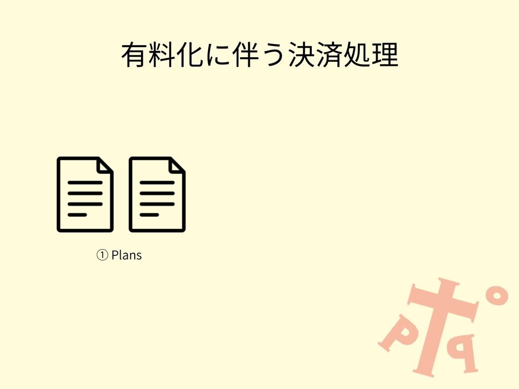 有料化に伴う決済処理 ① Plans