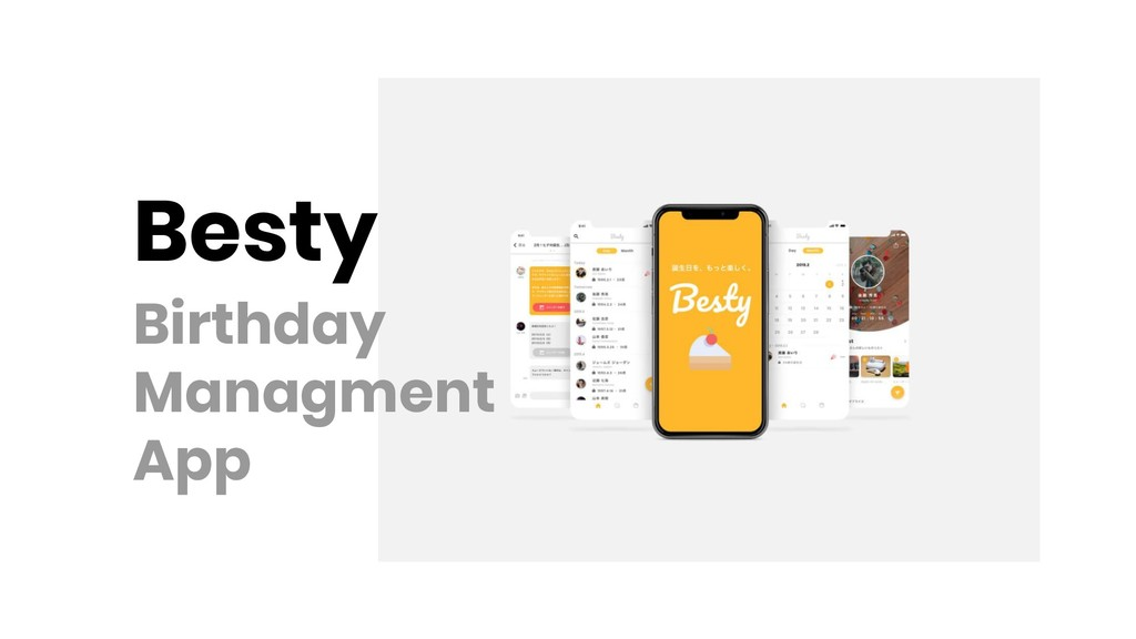 Besty Birthday Managment App
