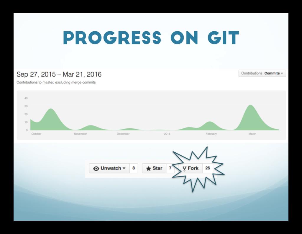 Progress on GIT
