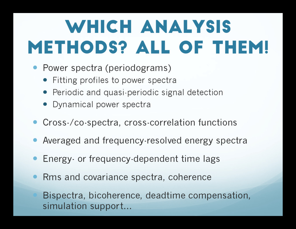 Which analysis methods? ALL of them! — Power ...