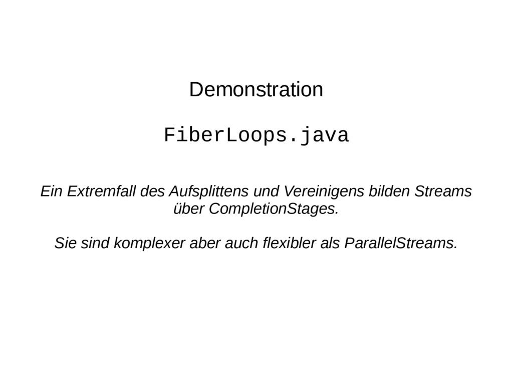 Demonstration FiberLoops.java Ein Extremfall de...