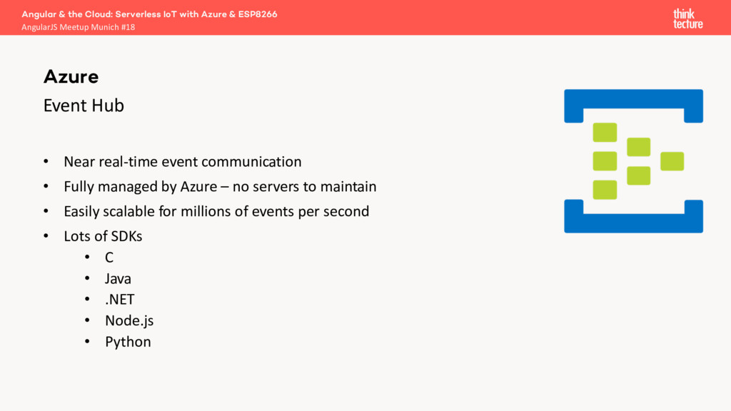 Event Hub • Near real-time event communication ...