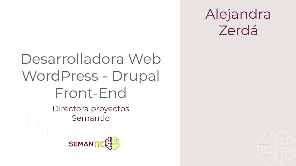 Desarrolladora Web WordPress - Drupal Front-End...