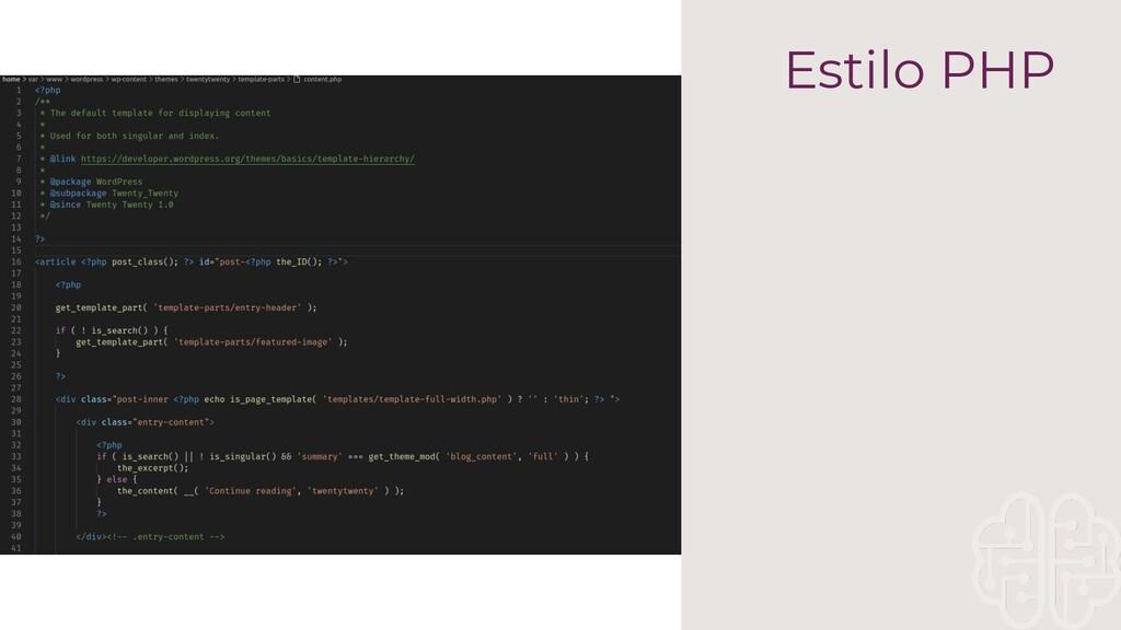 Estilo PHP