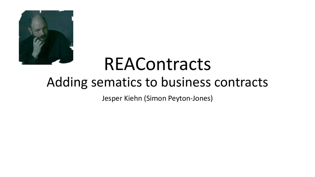 REAContracts Adding sematics to business contra...
