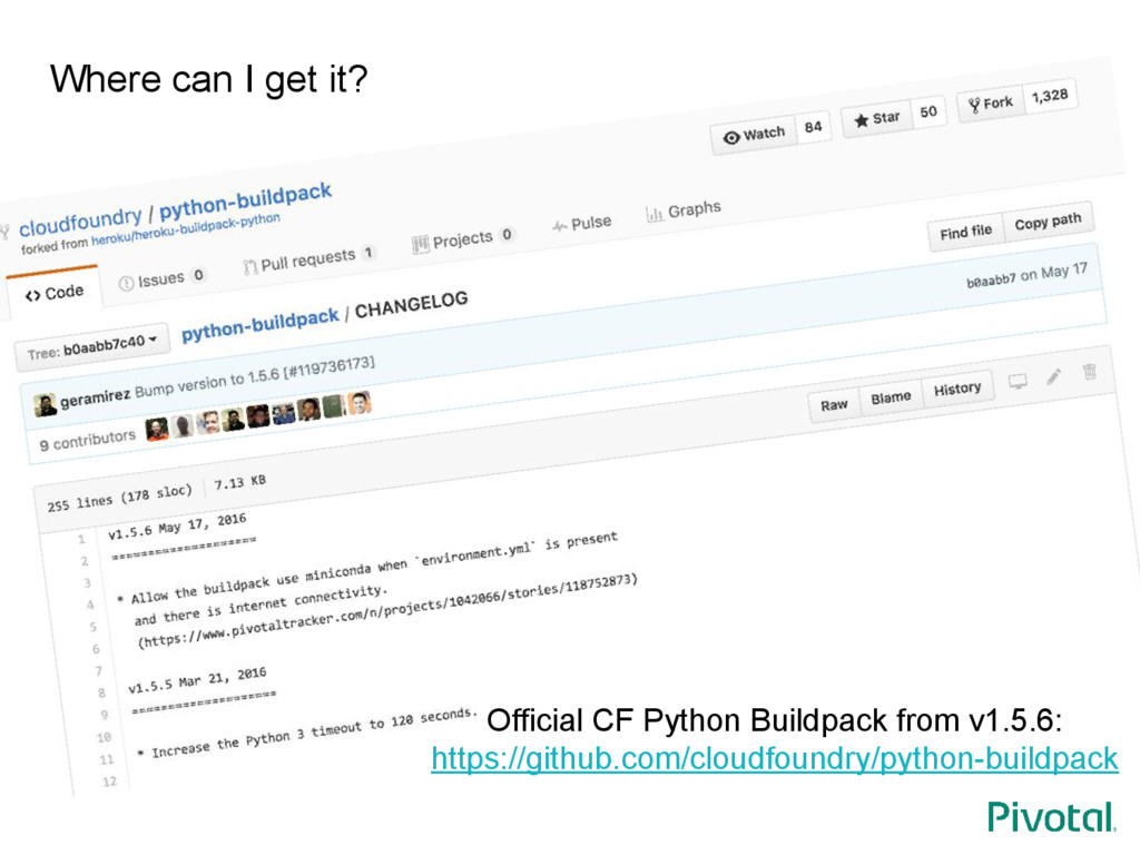 Where can I get it? Official CF Python Buildpac...