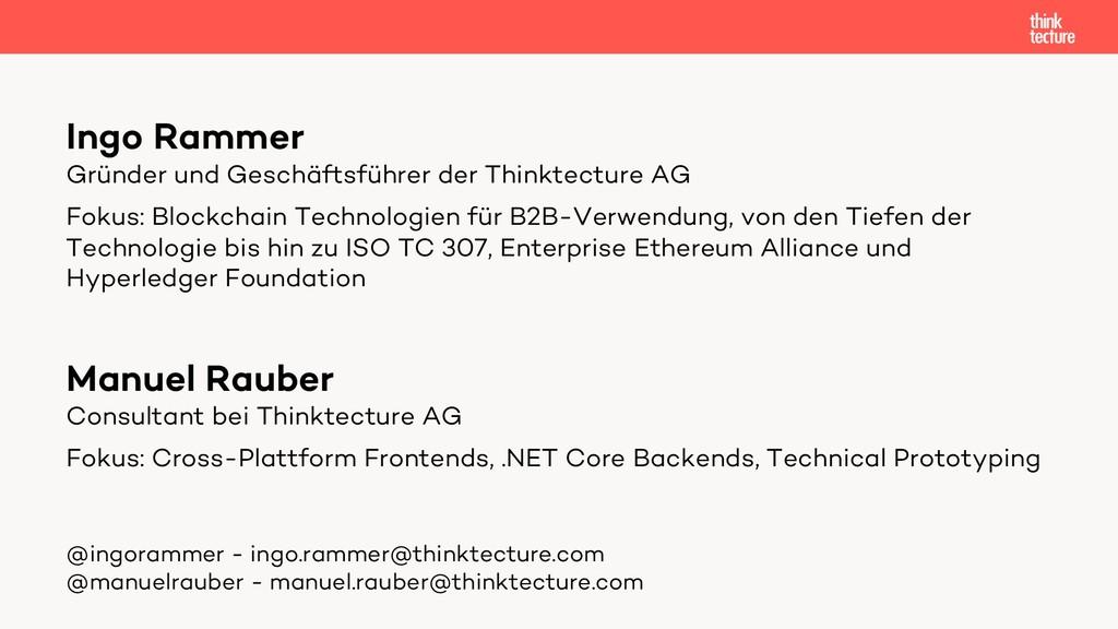 Ingo Rammer Gründer und Geschäftsführer der Thi...