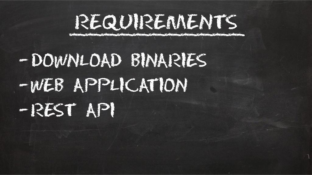 Requirements –Download binaries –Web applicatio...