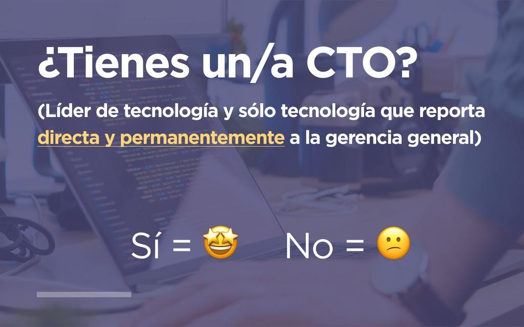 ¿Tienes un/a CTO? (Líder de tecnología y sólo t...
