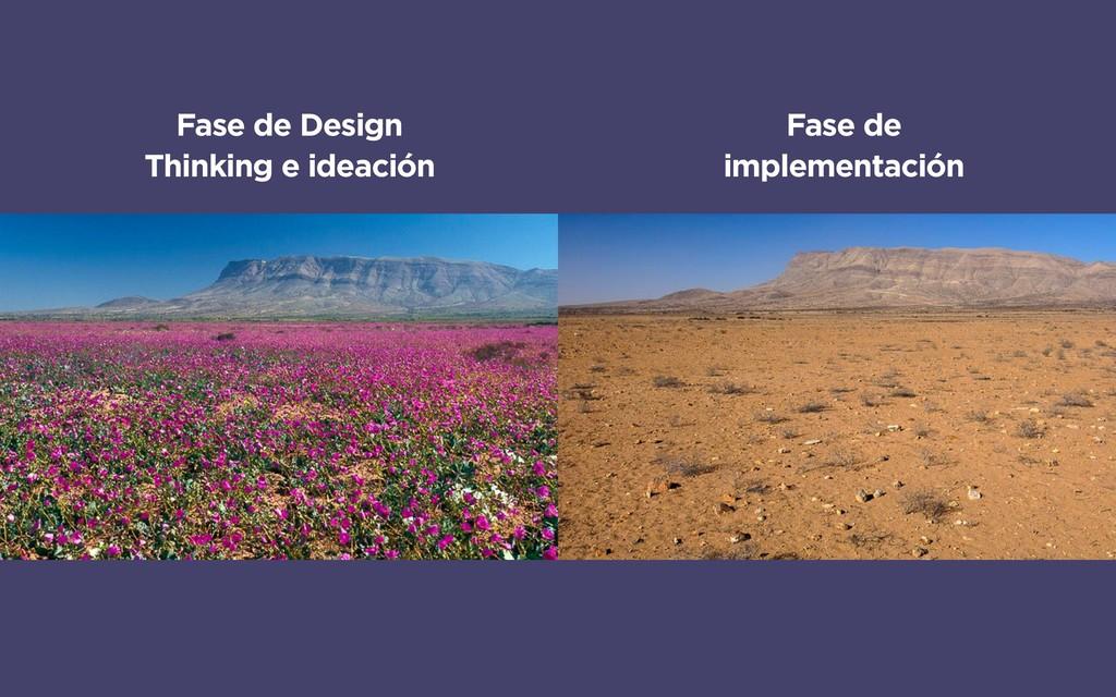 Fase de Design Thinking e ideación Fase de impl...