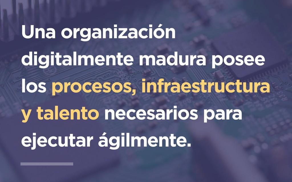 Una organización digitalmente madura posee los ...