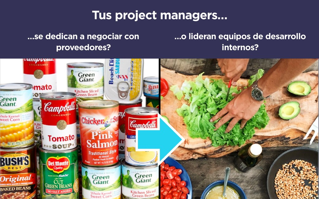 Tus project managers… …se dedican a negociar co...