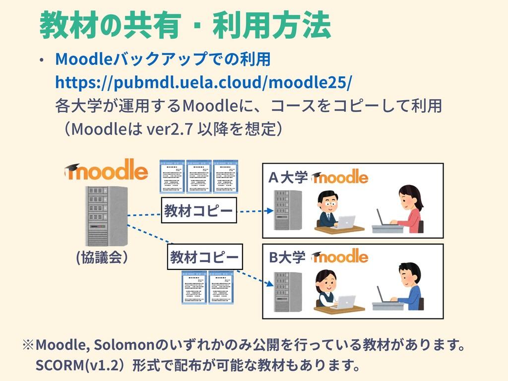 • Moodleバックアップでの利⽤ https://pubmdl.uela.cloud/mo...