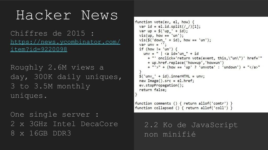 Hacker News Chiffres de 2015 : https://news.yco...