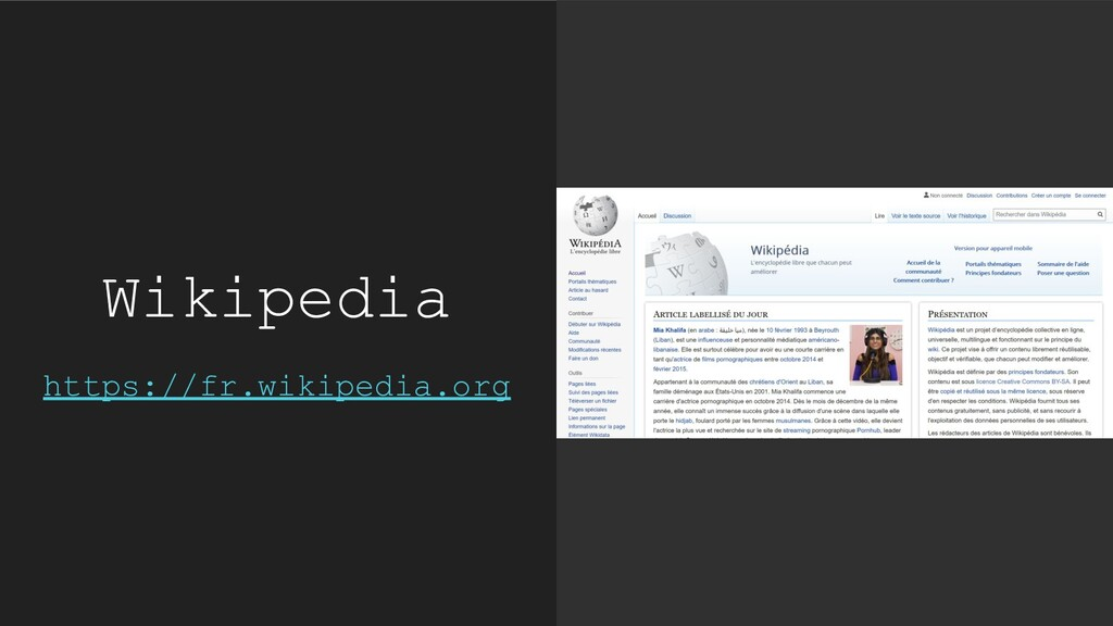 Wikipedia https://fr.wikipedia.org
