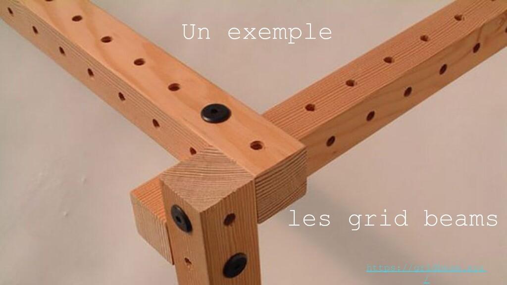 Un exemple les grid beams https://gridbeam.xyz /