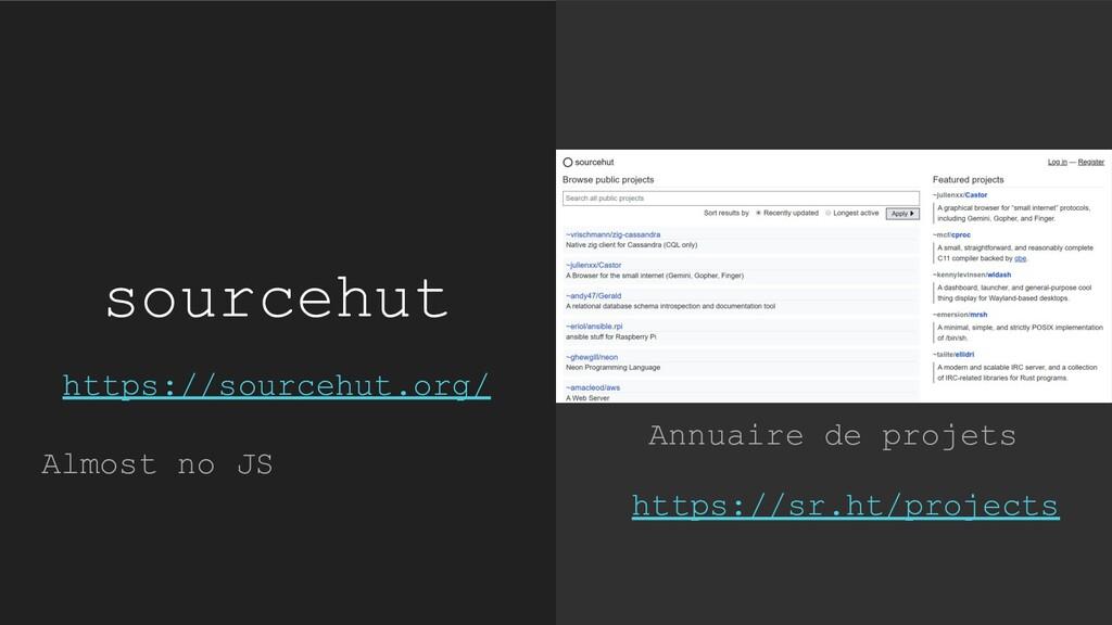 https://sr.ht/projects Annuaire de projets sour...