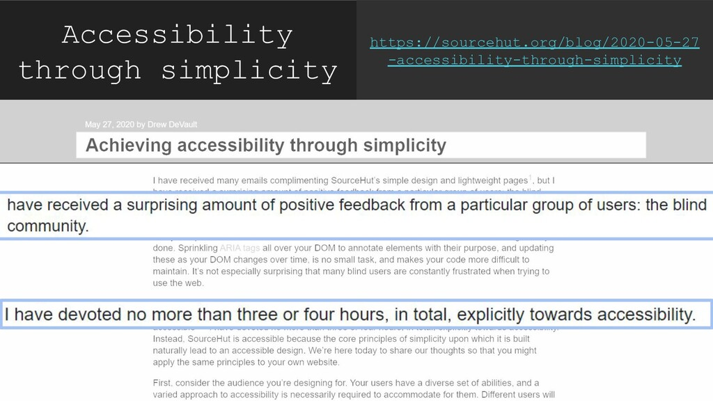 Accessibility through simplicity https://source...