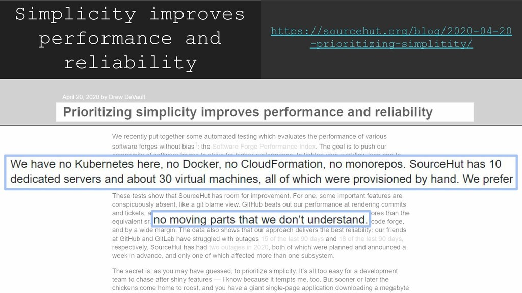 Simplicity improves performance and reliability...