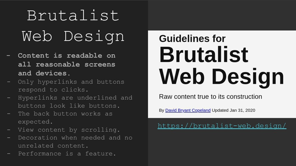 Brutalist Web Design - Content is readable on a...