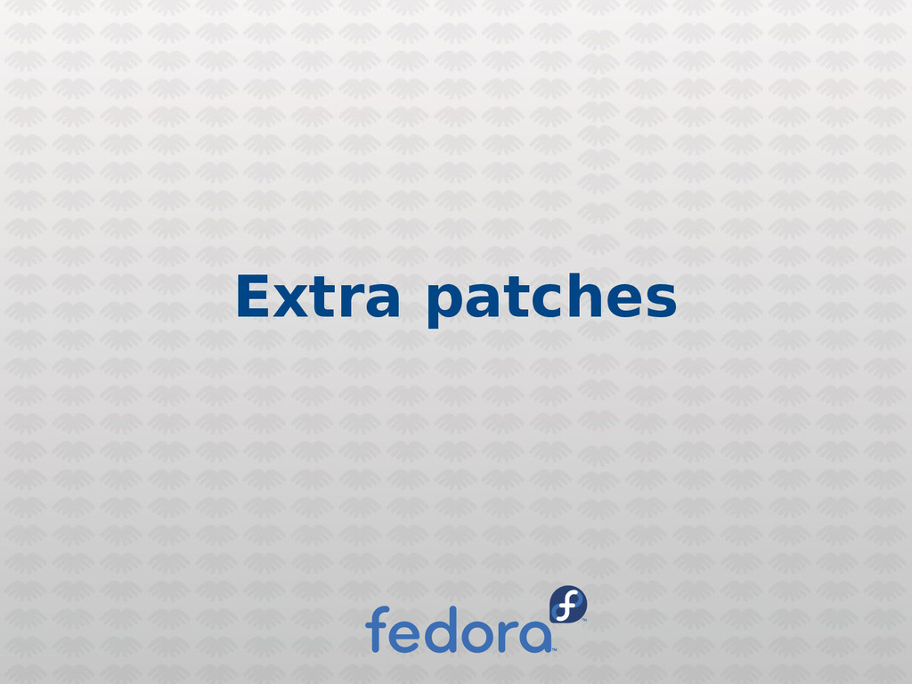 Extra patches