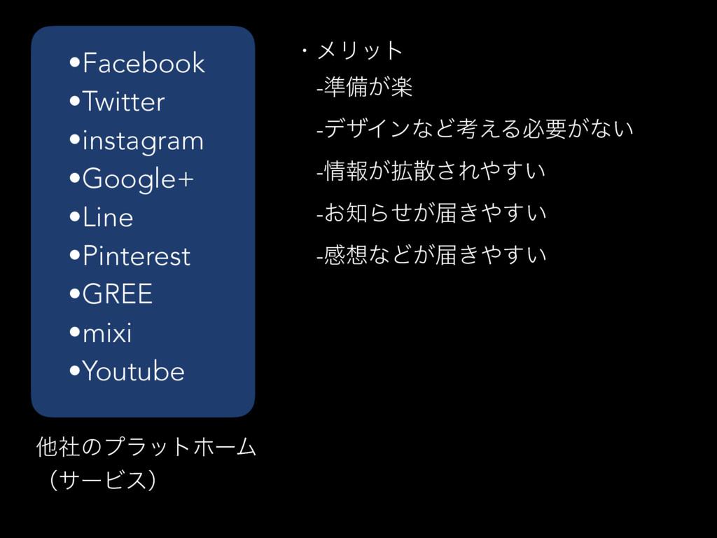 •Facebook •Twitter •instagram •Google+ •Line •P...