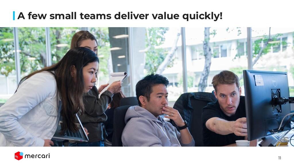 11 A few small teams deliver value quickly!