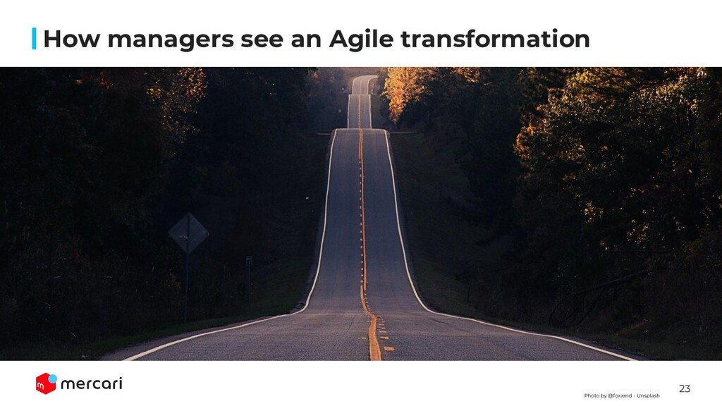 23 How managers see an Agile transformation Pho...
