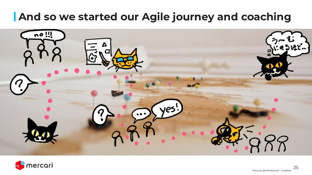 25 And so we started our Agile journey and coac...