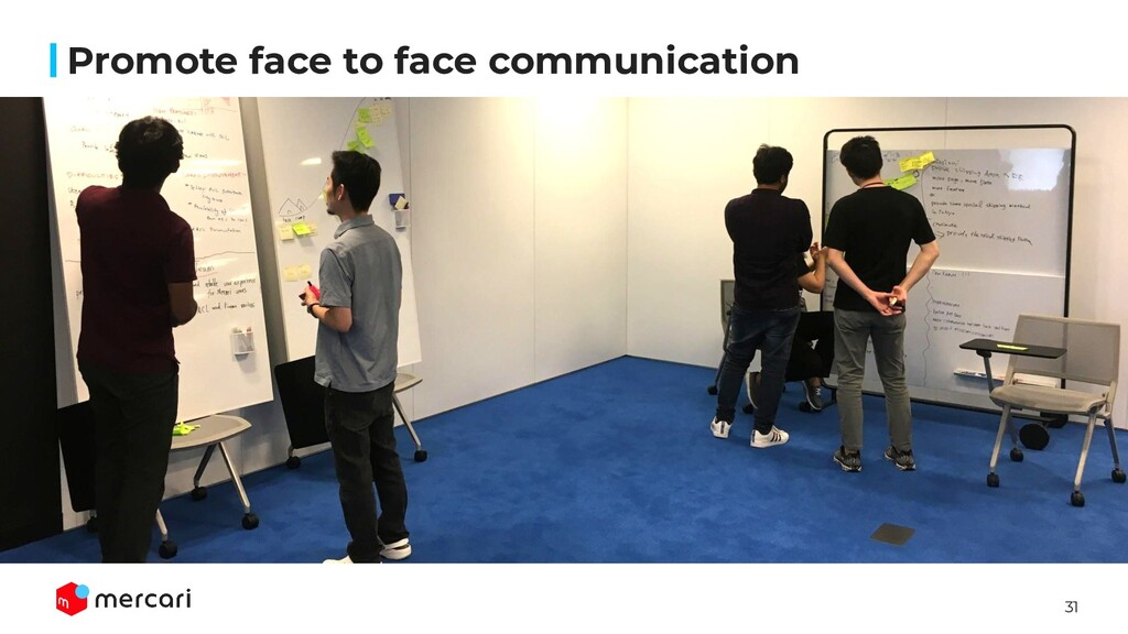 31 Promote face to face communication