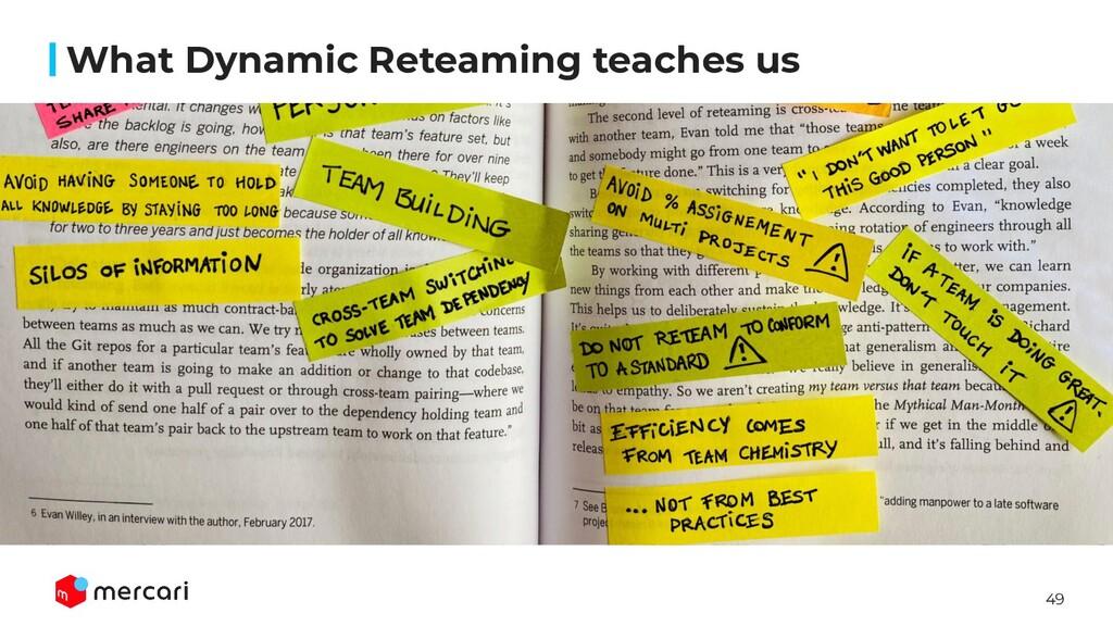49 What Dynamic Reteaming teaches us