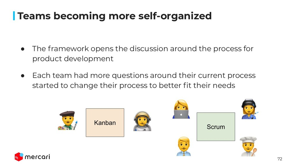 72 ● The framework opens the discussion around ...