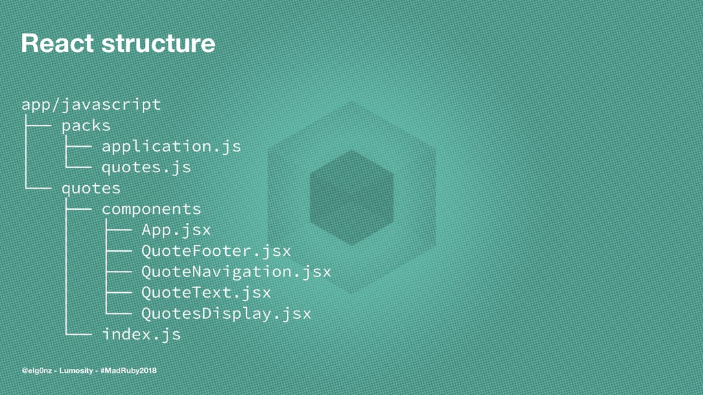 React structure app/javascript ├── packs │ ├── ...